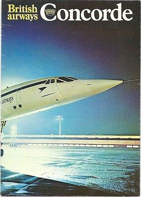 British Airways Concorde Vintage Fold Out Brochure 1970's Ba With Seat Map