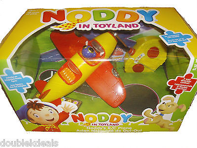 New Noddy In Toyland Rc Remote Control Plane With Figure - 2-Way Directional