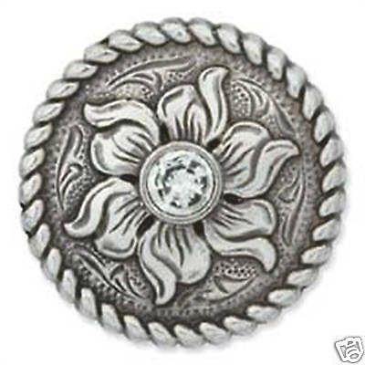 "Crystal Flower 1"" Screwback Concho 7408-06 by Tandy Leathercraft"