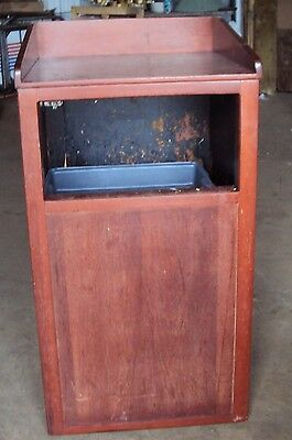 Restaurant Tray / Garbage Can Waste Receptacles  -Wood