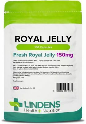 Royal Jelly 150mg Capsules (100 pack) [Lindens 1967]