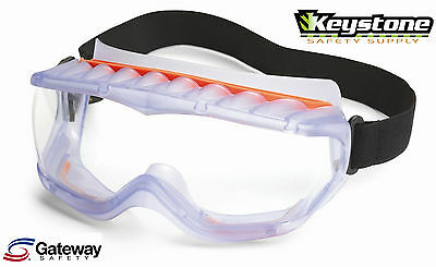 Gateway Safety Cyclone Goggles Clear Anti-Fog Lens, Vent Inserts Included 40212