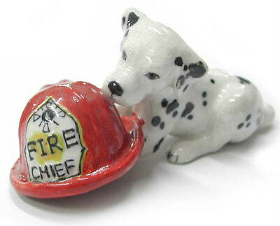 R212 - Northern Rose Miniature  - Dalmation Puppy in Firemans Hat