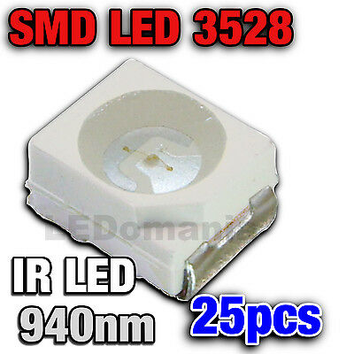 125/25# LED CMS IR 940nm-- 25 pcs  -  Plcc-2 TL  SMD