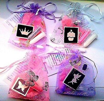 MINI GLITTER TATTOO KITS X 10 GIRLS BOYS U CHOOSE party bag filler LATEST TREND