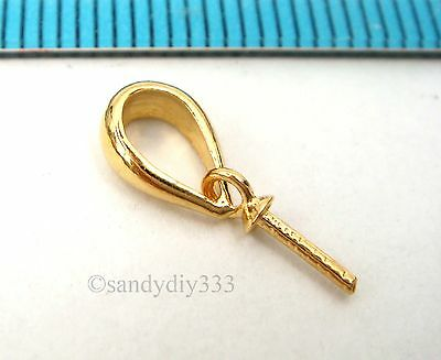 N735A 10x BRIGHT STERLING SILVER PENDANT CLASP PEARL BAIL PIN SLIDE