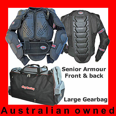 4BP MOTOCROSS 2 pack Senior/Adult (Body Armour, Gearbag). MX MOTOX Pack