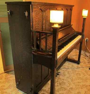 Upright Piano RARE Arts and Crafts Mission Craftsman style Antique Vintage
