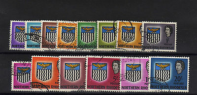 Northern Rhodesia 1963 Complete Set Sg 75-88 Fine Used.