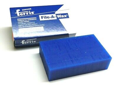 Carving Wax Ferris File-A-Wax Block Blue 1 Pound Jewelry Model Making In Wax