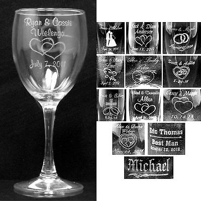 Personalized Wine Glasses Laser Engraved Wedding Party Gifts Bridesmaids Custom