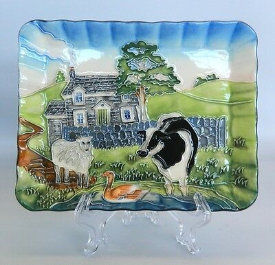 Old Tupton Ware Country Platter Plate * New in Box * Farm Animals Sheep Cow