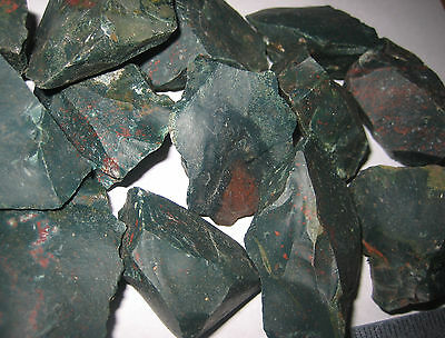 "1lb A+ NATURAL ROUGH 1-2"" BLOODSTONE RAW CRYSTAL STONE MINERALS HELIOTROPE INDIA"