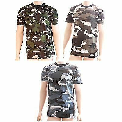 24 x Mens Army Combat Style Short Sleeve T Shirt Top WHOLESALE JOB LOT TRADE