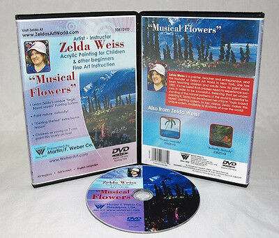 Zelda DVD Musical Flowers Acrylic Painting for Kids, learn to paint, great gift!