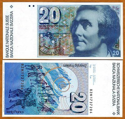 Switzerland, 20 Francs, 1982, P-55 (55d),  Gem UNC