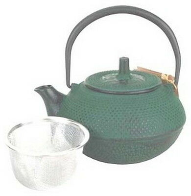 Japanese Tetsubin Cast Iron Teapot 15oz Green TB1-05G S-2515