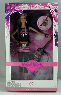 Barbie Doll HARD ROCK CAFE Exclsv 2006 PIN Brunette NIB Collector Edition