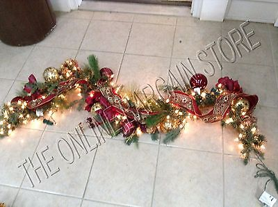 Frontgate Portofino Glass Ornament Doorway Mantel 6 Garland Swag Fireplace 41868