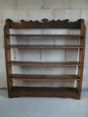 Victorian carved Oak open adjustable 5 tier bookcase
