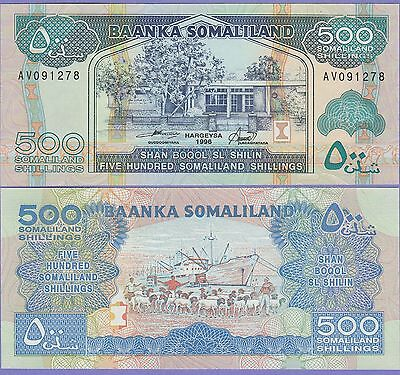 Somaliland 500 Shillings Banknote 1996 Uncirculated Condition Cat#6-B