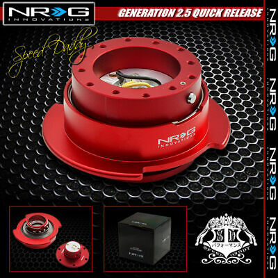 UNIVERSAL NRG STEERING WHEEL SHORT 6-HOLE GEN 2.5 QUICK RELEASE ADAPTOR BLACK