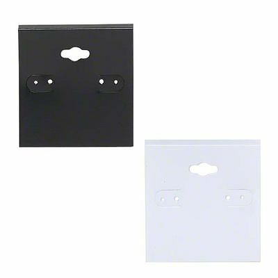 Lot of 100 Plastic PVC Hanging Earring Card Displays with Flip Tab for Hoops