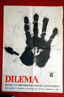 DILEMMA DANISH AFRICAN PATRIC MAGEE 1962 RARE EXYU MOVIE POSTER