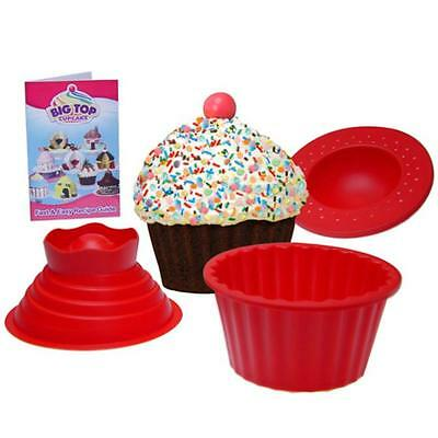 Silicone Cupcake Muffin Mould Big top bake cake Giant Party Mold Pan + Bonus