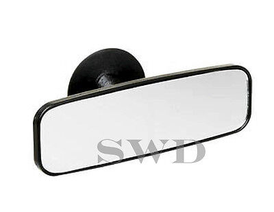 Stick on Windscreen Suction Black Interior Mirror Driving Instructor Rear View