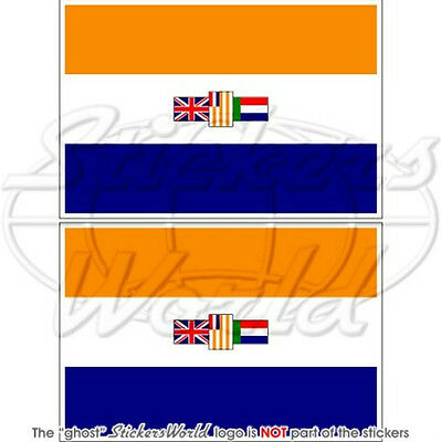 "SOUTH AFRICA South African Former Flag 3""(75mm) Vinyl Bumper Stickers, Decals x2"