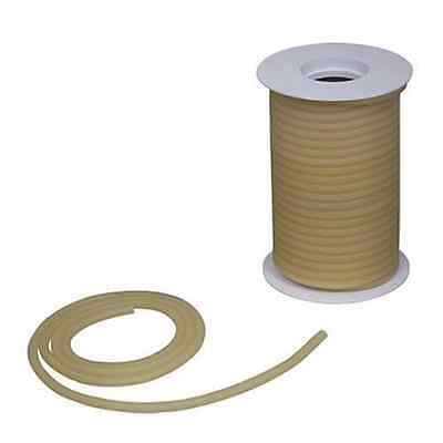 "50 Feet 5/16"" I.D x 3/32 w x 1/2"" O.D Natural Latex Rubber Tubing Amber Color"