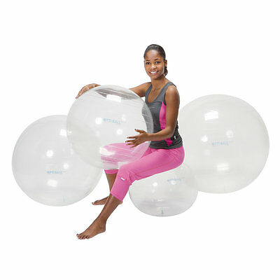 New Opti Swiss Fitness Exercise Ball TRANSPARENT  45cm