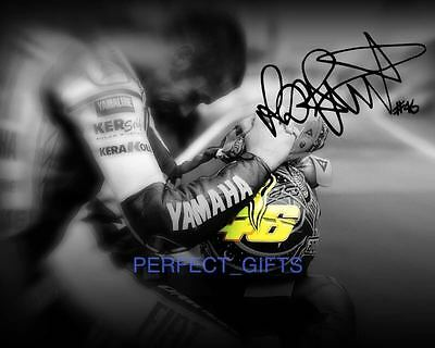 Valentino Rossi Signed 10X8 Pp Re Pro Photo