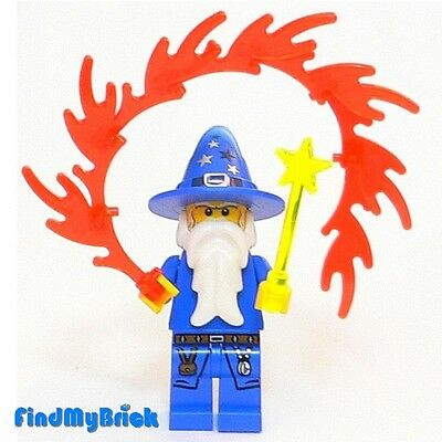 C108 Lego Kingdoms Blue Wizard Minifigure with Wand 7952 NEW 10193 lotr