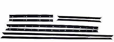 1965 Ford Galaxie 500, XL convertible window sweep seals, belt line molding 8pcs