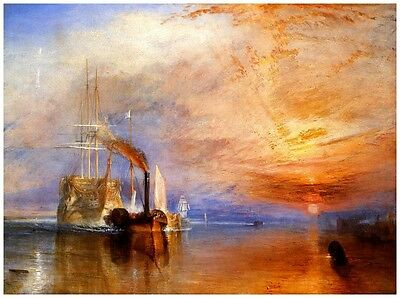 The Fighting Temeraire Tugged to Last Berth by Joseph Turner Giclee Canvas Print