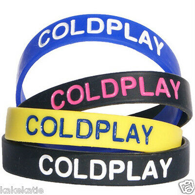 COLDPLAY wristband silicone bracelet / wrist band bangle gift fashion love band