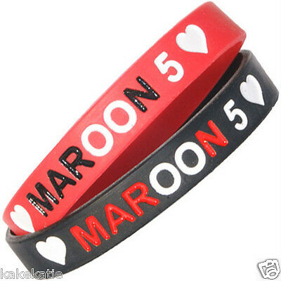 MAROON 5 wristband silicone bracelet / wrist band bangle gift fashion  boy band