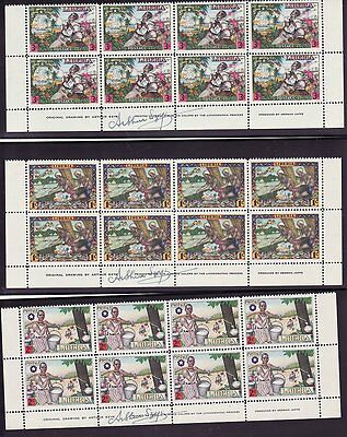 Liberia 309-12 C63-64 MNH Blocks of 8 Signed SZYK