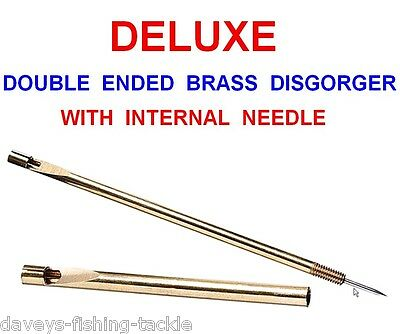 Brass Double Ended Disgorger+Needle Game Fly Coarse Fishing Hook Removal Tool