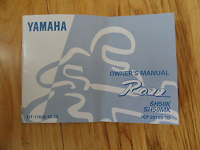 Yamaha 1987 SH50 SH 50 Razz New Original Owners Manual yam178