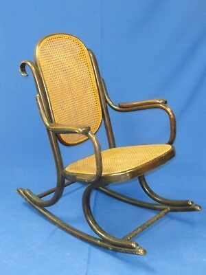 Antique Victorian Small Child Bentwood Rocker Rocking Chair
