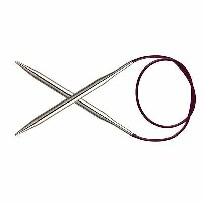 KnitPro Nova Metal Fixed Circular Knitting Needles: 80cm Length