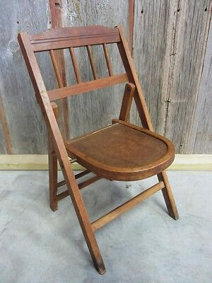 Vintage Wooden Folding Chair > Antique Table Stand Old Stool Chairs RARE 7039