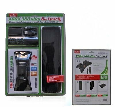 Dual Charger, Remote Control, Cooling Fan, Battery Pack For Xbox 360 Slim Pack