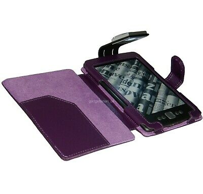 Purple Case Cover And Light For New Amazon Kindle 4- With Led Night Reading Lamp
