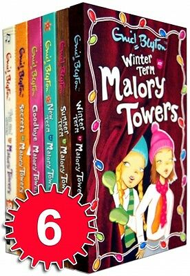 Enid Blyton Malory Towers Collection 6 Books Set Children Classic Pack (7-12)