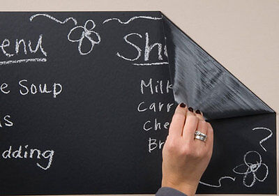 BUY 2 GET 1 FREE! A4 / 1m Roll Whiteboard Blackboard Sticky Back Plastic Film