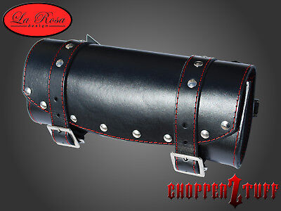 Universal Front Forks Tool Bag Black Riveted Red Thread